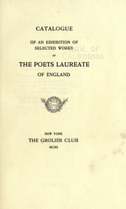 Cover of: Catalogue of an exhibition of selected works of the poets laureate of England