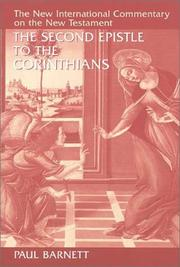 Cover of: The Second Epistle to the Corinthians