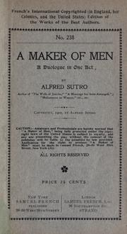 Cover of: A maker of men