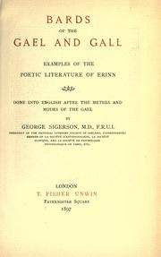 Cover of: Bards of the Gael and Gall | Sigerson, George