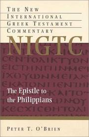 Cover of: The Epistle to the Philippians