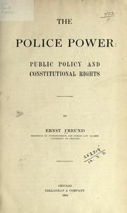 The police power by Ernst Freund
