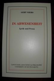Cover of: In Abwesenheit