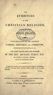 The evidences of the Christian religion by Joseph Addison