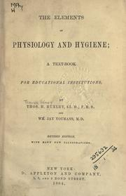 Cover of: The elements of physiology and hygiene