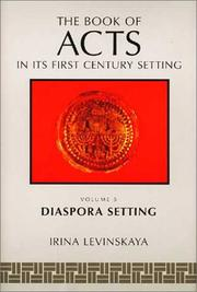 Cover of: The book of Acts in its diaspora setting