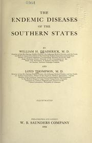 The endemic diseases of the southern states by William Heiskell Deaderick