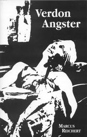 Cover of: Verdon Angster | Marcus Reichert
