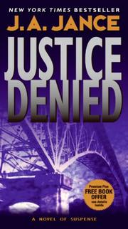 Cover of: Justice Denied | J. A. Jance