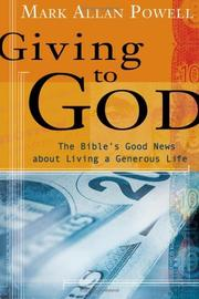Cover of: Giving to God | Mark Allan Powell