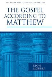 Cover of: The Gospel according to Matthew