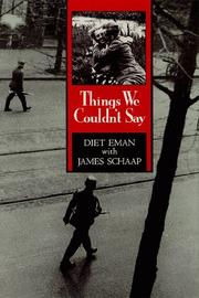 Things We Couldn't Say by Diet Eman