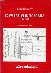 Cover of: Sovversivi in Toscana, 1900-1919
