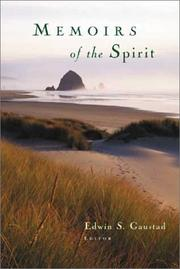 Cover of: Memoirs of the Spirit | Edwin S. Gaustad