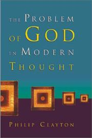 Cover of: The Problem of God in Modern Thought | Philip Clayton