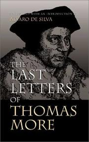 Cover of: The last letters of Thomas More