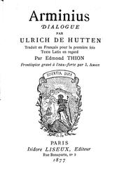 Cover of: Arminius: dialogue