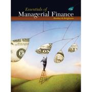 Cover of: Essentials of managerial finance
