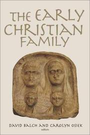 Cover of: Early Christian Families in Context |