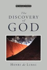 Cover of: The discovery of God | Henri de Lubac