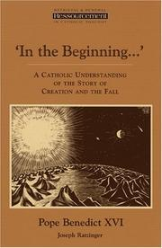 Cover of: Im Anfang schuf Gott: a Catholic understanding of the story of Creation and the fall