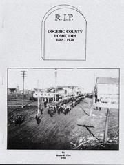 Cover of: Gogebic County homicides, 1885-1920