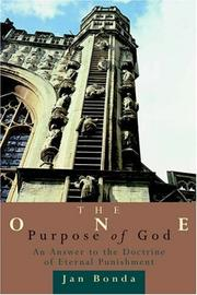 Cover of: The one purpose of God