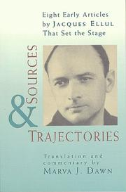 Cover of: Sources and trajectories