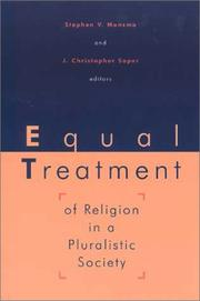 Cover of: Equal treatment of religion in a pluralistic society |