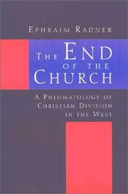 Cover of: The end of the church