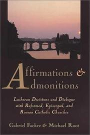 Cover of: Affirmations and admonitions
