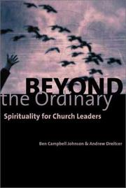 Cover of: Beyond the Ordinary: Spirituality for Church Leaders