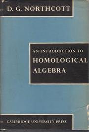 Cover of: introduction to homological algebra. | D. G. Northcott