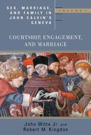 Cover of: Sex, marriage, and family in John Calvin's Geneva