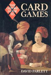 Cover of: The Oxford guide to card games