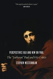 Cover of: Perspectives Old and New on Paul | Stephen Westerholm