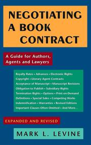 Cover of: Negotiating a Book Contract - Expanded and Revised (2009) | Mark L. Levine