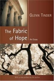 Cover of: The Fabric of Hope | Glenn, E. Tinder