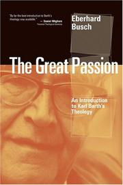 Cover of: The Great Passion | Eberhard Busch
