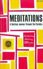 Cover of: Meditations on a theme
