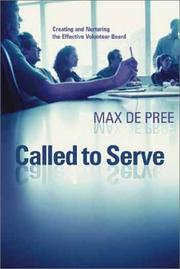 Cover of: Called to Serve by Max De Pree