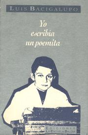 Cover of: Yo escribía un poemita