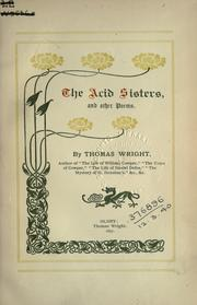 Cover of: acid sisters and other poems. | Wright, Thomas