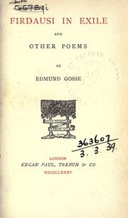 Cover of: Firdausi in exile and other poems