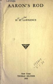 Cover of: Aaron's rod. | D. H. Lawrence