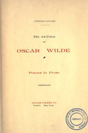 Cover of: The writings of Oscar Wilde
