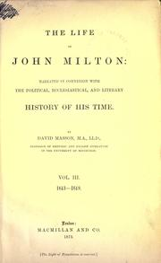 Cover of: The age of Milton