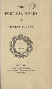 Cover of: poetical works of Vincent Bourne. | Vincent Bourne