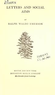 Cover of: The complete works of Ralph Waldo Emerson