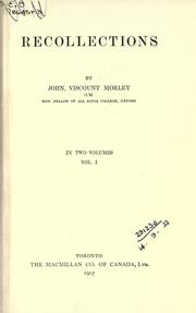 Recollections by Morley, John